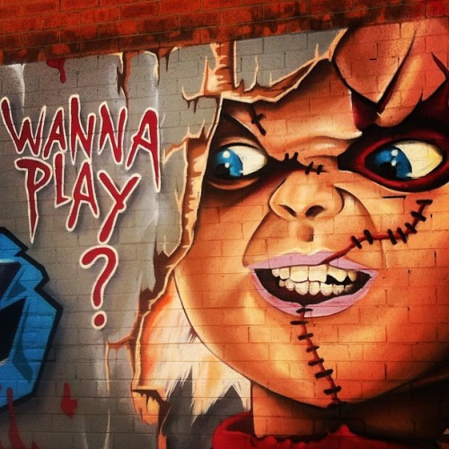 Wanna Play? #graffiti #streetart #lomofi #sydney #enmore #philliplane (Taken with instagram)