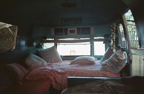 I'd be cool with living on the road constantly with the man of my dreams. That way I would be more safe while out on the road.  Work 6 months out of the year and have a 6 month lease(during the winter of course), work both our asses off and save up money to be on the road for the other 6 months. Totally possible, and totally awesome.