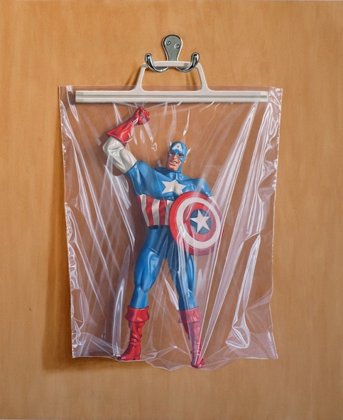 Photorealistic Superheroes in Baggies by Simon Monk (via: My Modern Met)