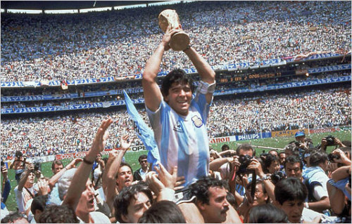 via here Mexico 1986 world cup Champion: Argentina with Maradona