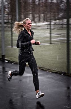 A little rain isn't gonna stop me from getting my workout high!