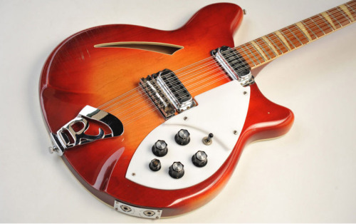 Rickenbacker 360/12 1963-presentMaple, Walnut, Rosewood A Rick's classic. First 12 strings, with stereo output. Favored by dozen of guitar legends. George Harrison, Pete Townshend, Brian Jones, Jeff Buckley to name a few. Pictured is a 1968 Fireglo