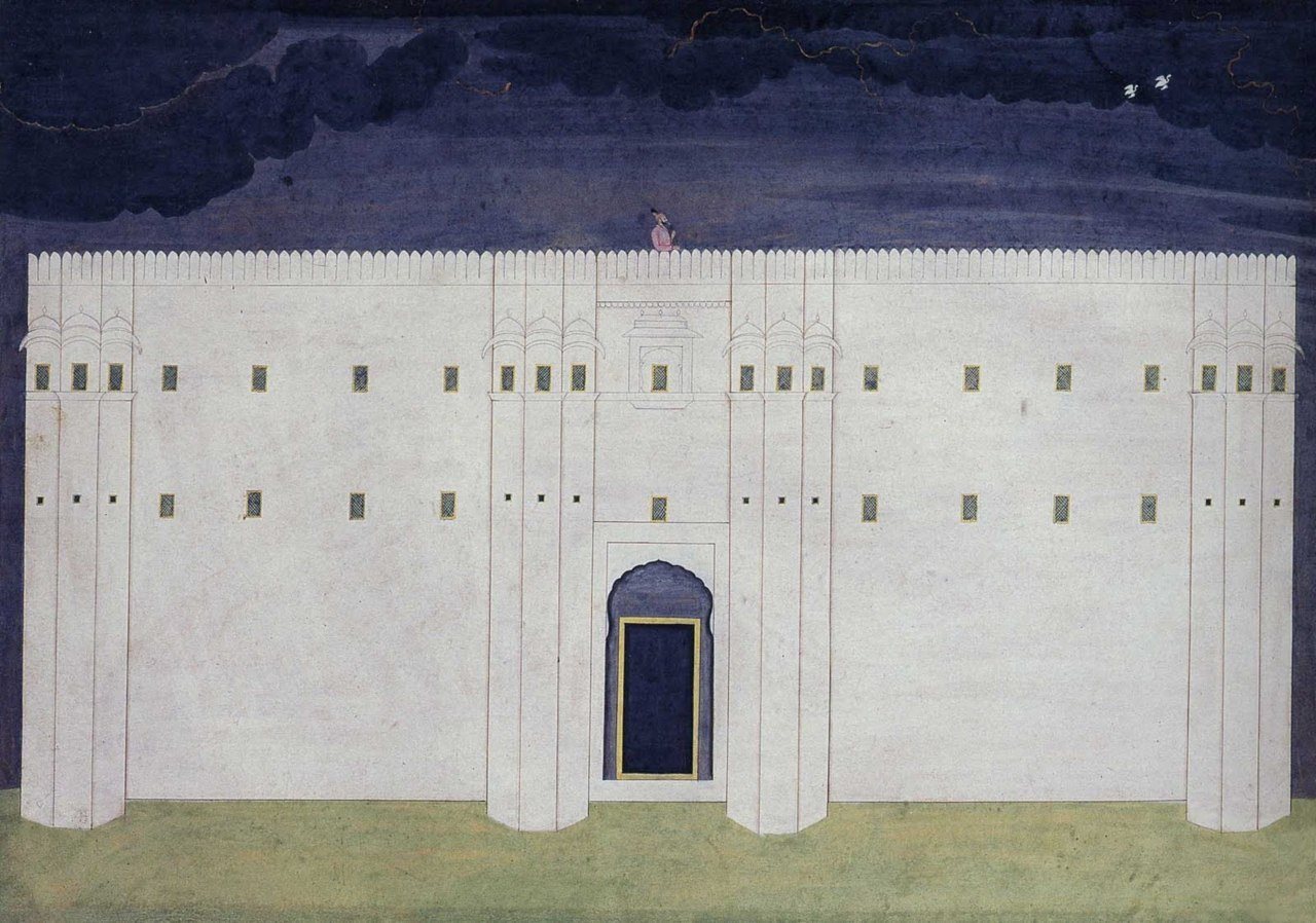 Raja Balwant Singh at Jasrota, by the 18th century Pahari artist Nainsukh. Via Indian Miniature Paintings