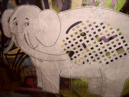 Self aware elephant! Pasting this, I discussed street art with some drunken businessmen. Neat. Hosier La, CBD