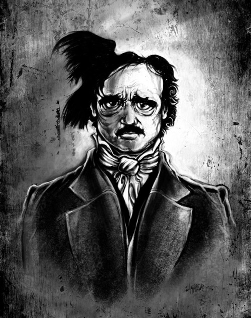 """I am the Raven - Edgar Allan Poe"" Prints at Society6  Vincent Carrozza Facebook 