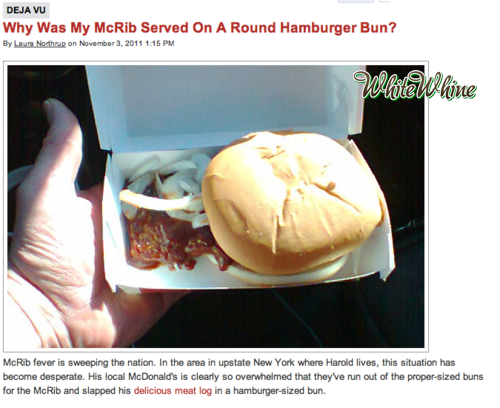 whitewhine:  Everyone knows you buy the McRib for the bun! via