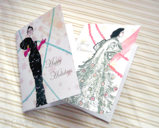 pack of six cards now available on Etsy! yay~