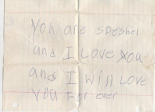 vandals-took-the-handles:  Christofer gave this to his mama, Nancy, for mother's day when he was a babyboy