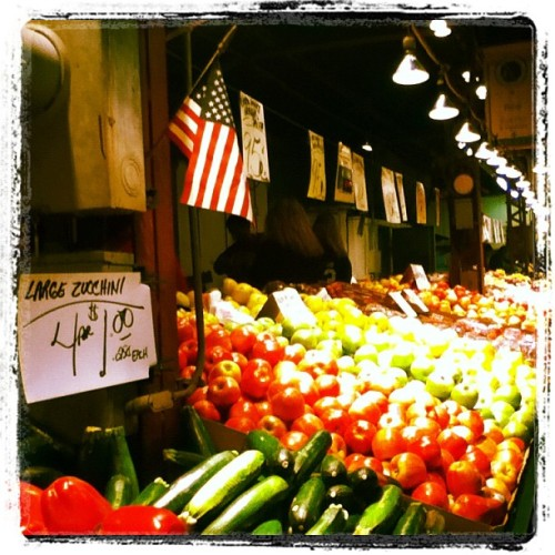 Farmers market in St. Louis on a cold Saturday morning (Taken with instagram)