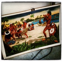 flamingofred:  Flea market find! A old school poster depicting polynesians.