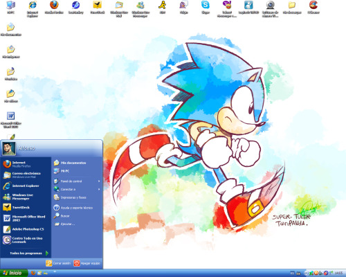 My Current Desktop Wallpaper art by Tairu Panda.