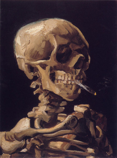 deadpaint:  Vincent van Gogh, Skull with a Burning Cigarrette