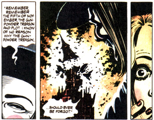 "From ""V for Vendetta"" by Alan Moore(Remember, remember, the fifth of November;The Gunpowder treason and plot!I know of no reason why the gunpowder treasonShould ever be forgot.)"