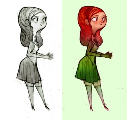 Old sketch - Watermelon colored chick