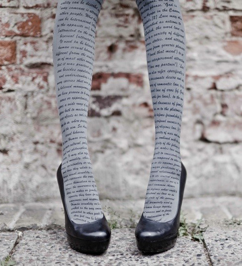 teachingliteracy:  printed tights. dr-tarl: bratini