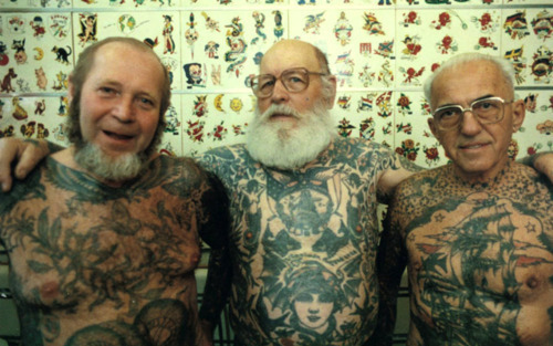 williamegilbert-:  'What are you going to do about your tattoos when you're older?!'  …dunno mate, probably grow an epic beard and hangout with other badass tattooed dudes and generally look awesome. What are you going to do when you just look like every other old bastard?