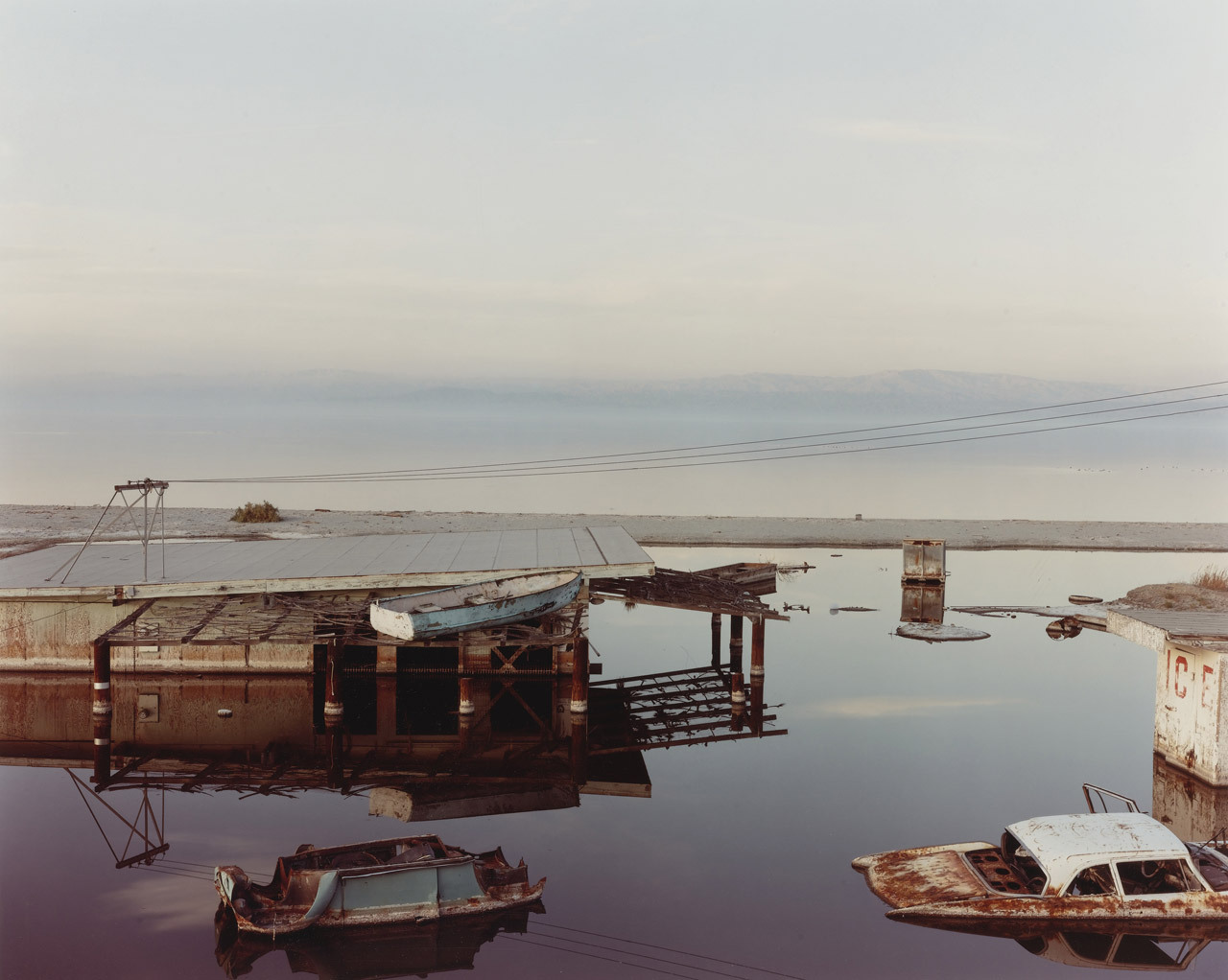 "Richard Misrach, ""Stranded Rowboat,"" Salton Sea, 1983. Thank you, melisaki."