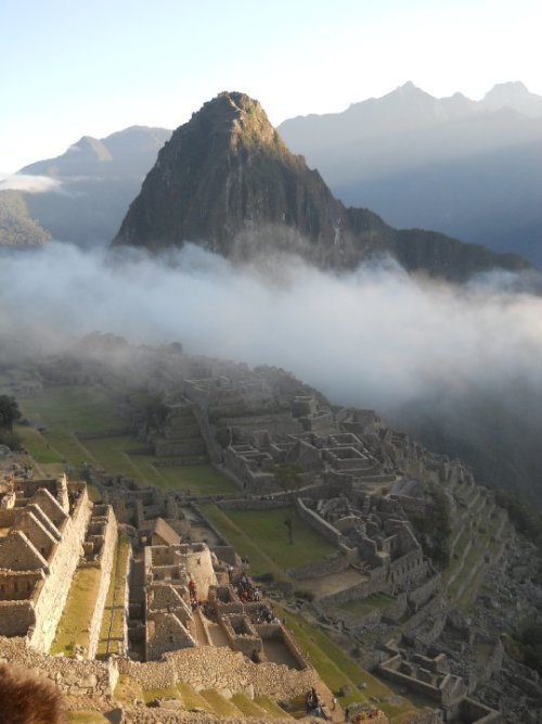 Machu Picchu, South Peru. Taken in the morning when the sun was half risen. submitted by: hobbitsocks, thanks!