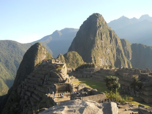 Machu Picchu, South Peru. Taken after the sun had risen. submitted by: hobbitsocks, thanks!