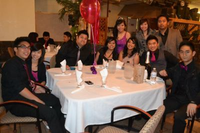 With the Debutante Last week at my sister's 18th.