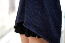 I love the combination of navy blue and black
