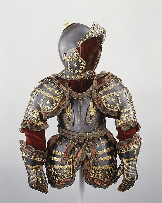 Armor of Louis I of Spain, c. 1712 (via The Metropolitan Museum of Art - Armor of Infante Luis, Prince of Asturias)