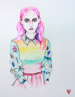 louloulovesdrawing:  Another painting for Audrey Grace Boutique- You can buy the original there.