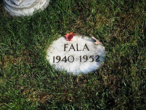 The grave of Fala, the famous 'First Dog', as he was called. (Franklin D. Roosevelt - Ryan's Presidential Quest)