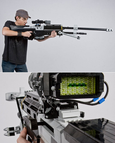 fuckyeahalo:  this lego sniper is amazing here's the article that picture is from: http://www.geekologie.com/2011/11/scale-replica-of-halo-sniper-rifle-in-le.php