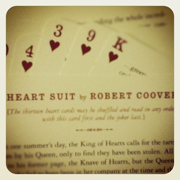 The thirteen heart cards may be shuffled and read in any order with this card first and the joker last. McSweeney's - you're so brillant