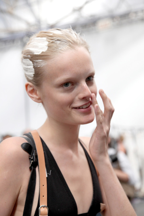 I love this photo of Hanne Gabby backstage at Alexander Wang from S/S 11. I need to make a blog of my backstage shots and just outtakes, there are so many good ones I forget about. [I totally blogged this image before but idc]