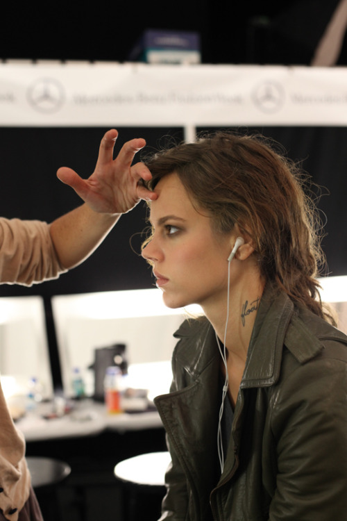 Freja Beha Erichsen backstage at Michael Kors S/S 11.