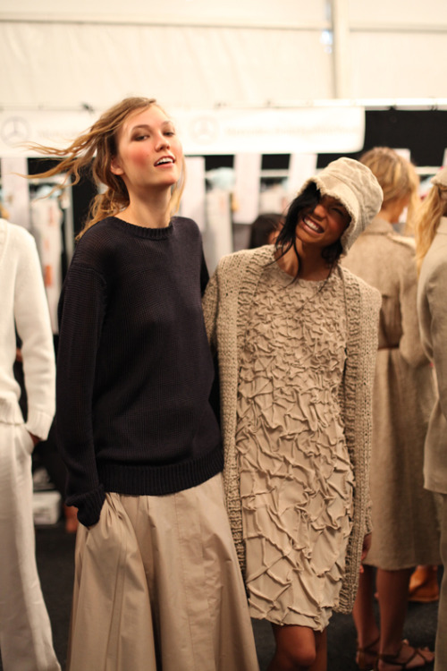 Karlie and Chanel. Michael Kors S/S 11.