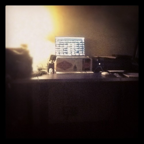 My production office today.  (Taken with instagram)