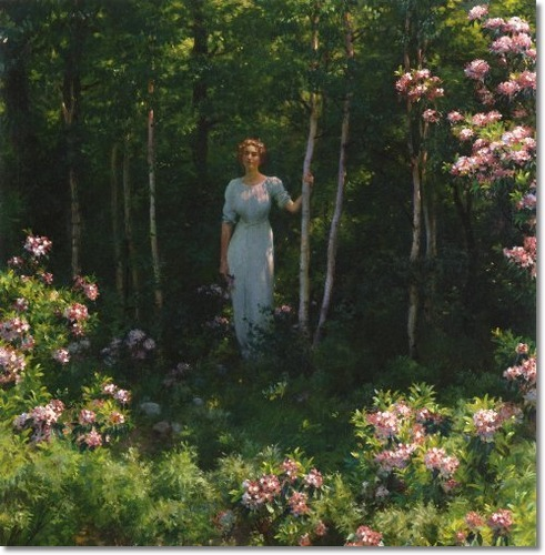 The Edge of the Woods by Charles Courtney Curran, 1912