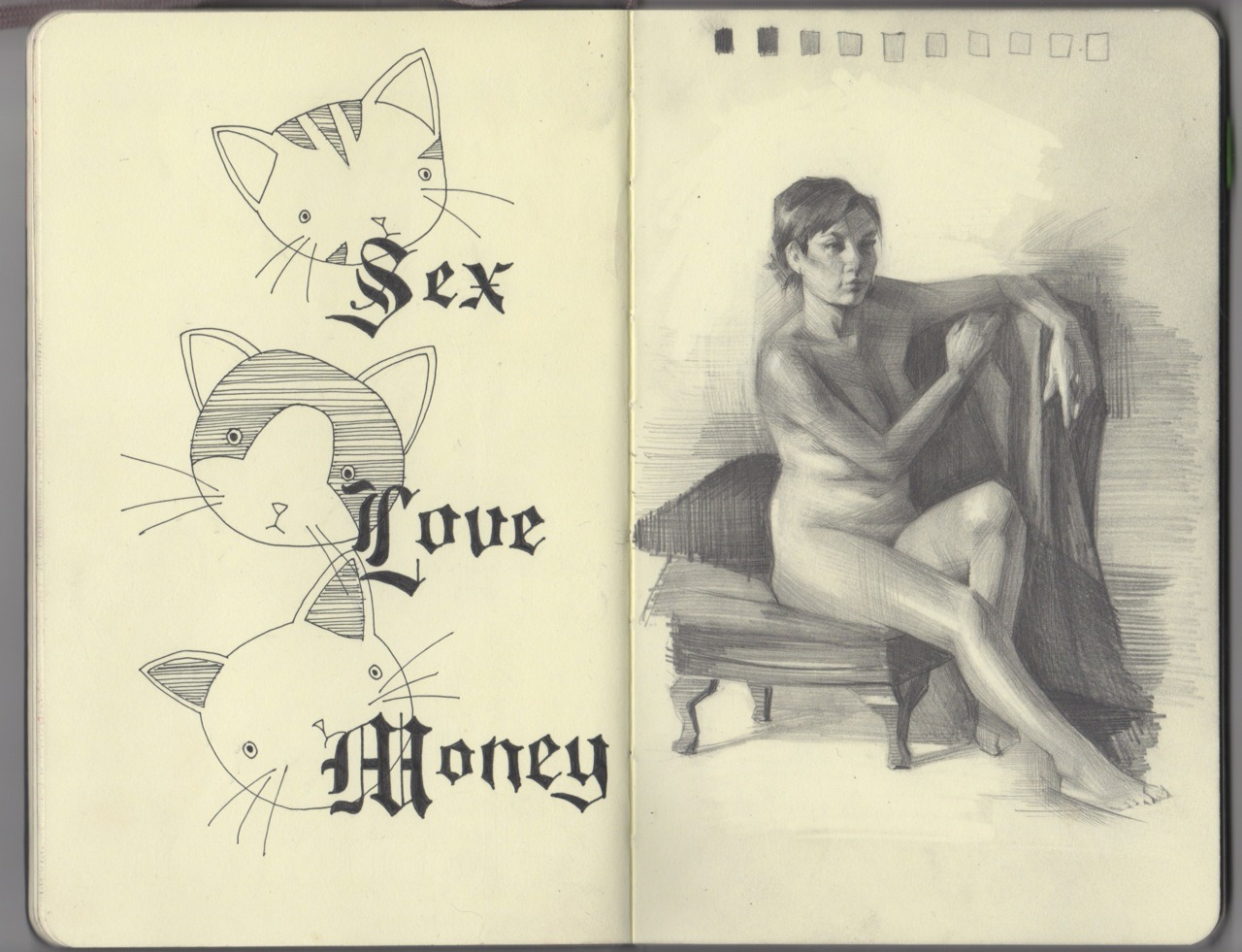 malloryroseart:  sexlovemoney  cats on cats on cats