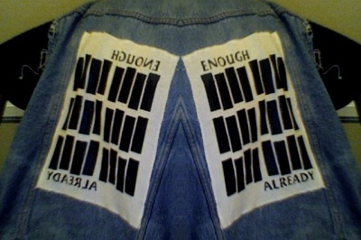 empresswuofthetangclan:  My vest. Due to overkill of the BF bars.
