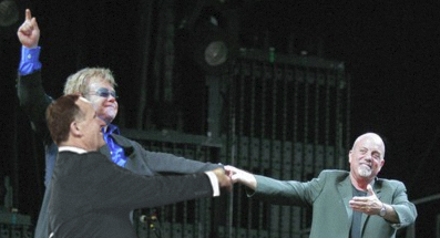 John Key, Elton John, and Billy Joel