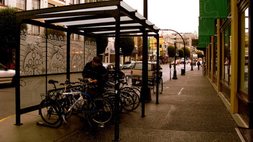 covered bike parking!
