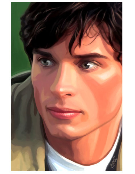 Tom Welling by ~ryanorosco A digital painting of the young man of steel.