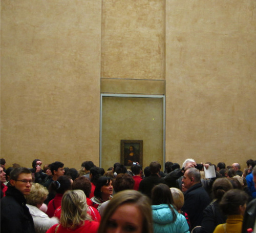 The Mona Lisa is surrounded.