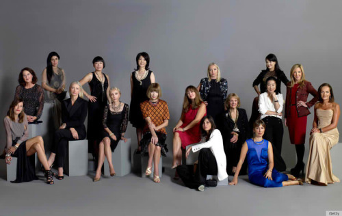Lemme just share to you this picture of EPIC PROPORTIONS!!!  All Vogue Editor-in-Chief all over the world, unite for this very rare (and lemme say EPIC) occasion, of sharing one frame together in support for Fashion Night Out Japan.All I can say is: Anna Wintour is the center of the universe. Yes, she is.And can you notice, by the way they dress up, you can simply tell which Vogue country they are from. Franca Sozzani just killed it for me, I love her!This by far is the most chica and most fashyown of all class pictures ever!!!!!!PS. I kinda miss Carine Roitfeld in here… :/