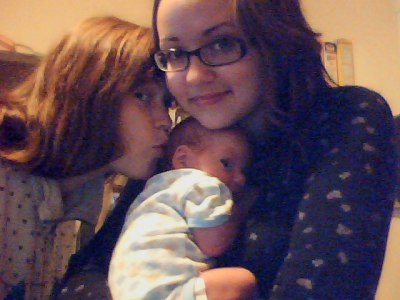 nitalee:  Sister, nephew, and I. He makes the most odd faces…  EVERYONE. Look how tiny Jace used to be! He was 3 months old in this photo. Now he's 10 months old and crawling and starting to walk. He needs to stop growing!