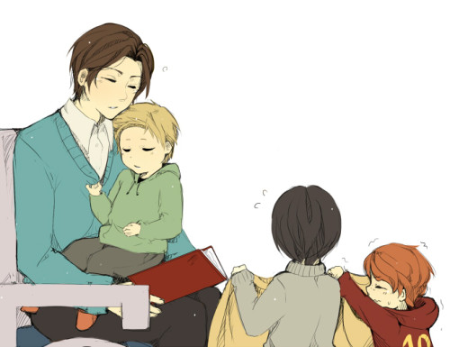 The kids taking care of papa!Charles, post-divorce… *wipes single manly tear away*