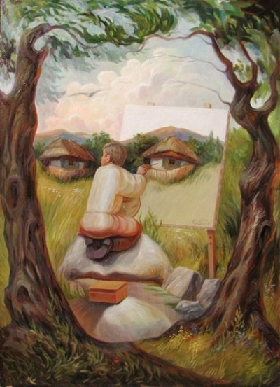 rawbdz:  Oleg Shuplyak Optical Illusions Paintings