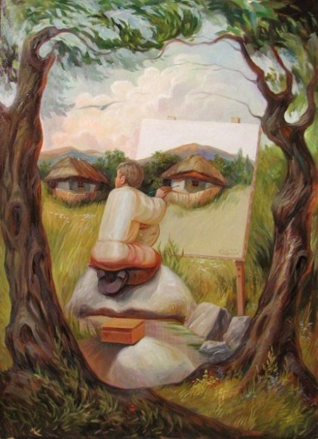 Oleg Shuplyak Optical Illusions Paintings