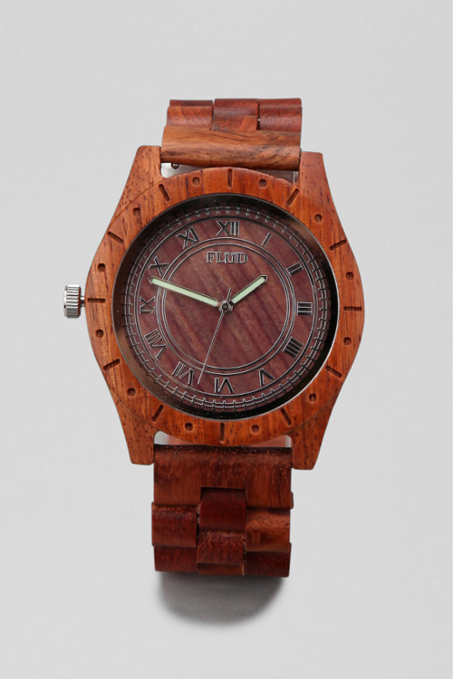 Flud Big Ben Wood Watch $95.00  Coolest watch ever!