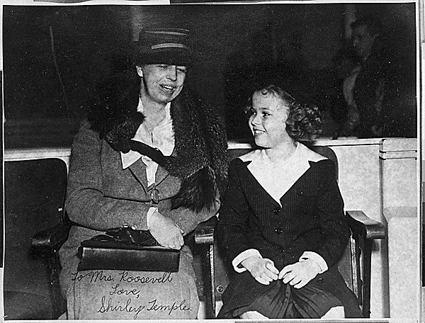 Eleanor Roosevelt and Shirley Temple, 1938