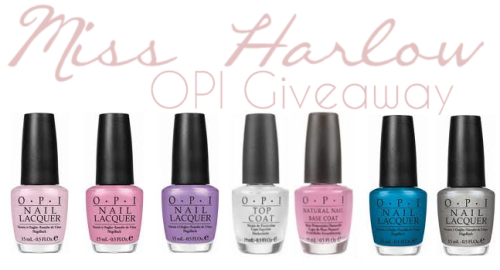 OPI Giveaway: So my grandparents that I don't see often got back from Holiday and because they missed my birthday they gave me a $200 voucher to my local Beauty Warehouse, which includes the complete OPI range. I decided to give 15 OPI Nailpolishes away to 1 lucky follower. This means that when I select the winner, you go onto the website and chose your own colours, I will buy them and ship them for free to you! Giveaway Rules This giveaway is open for my followers only so you must be following me in order to join! Reblog this post maximum 15 times. Dont create a second blog, I check. The winner will be chosen on December 15, 2011 via random.org  Make sure your ask box is enabled, if I dont receive a reply within 24 hours, I'll pick someone else.