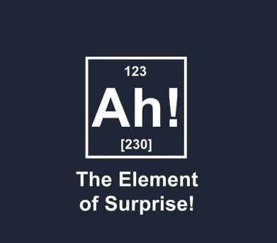kimiamania:  The Element of Surprise
